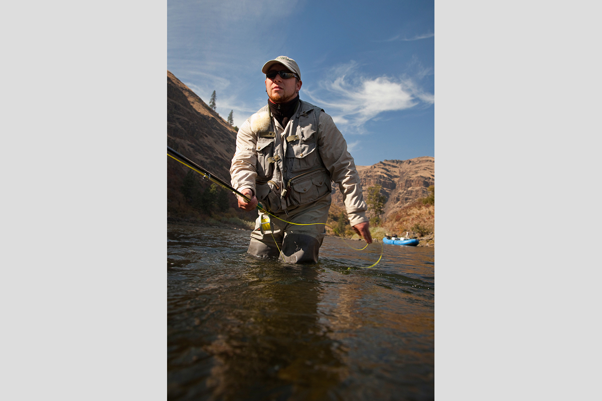 Fishing for Steelhead in the Grand Rhonde river in Eastern Oregon.