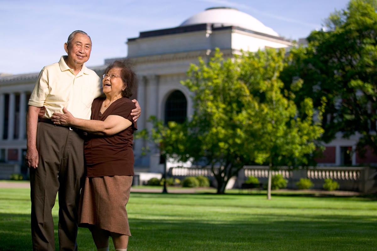 Older Asian couple on OSU campus
